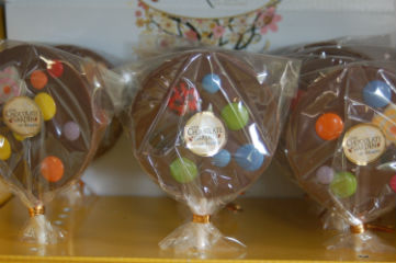 chocolate covered Lollipops